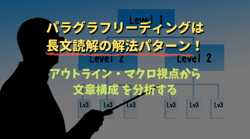 パラグラフリーディングは長文読解をマクロ視点・アウトラインから分析するストラテジー