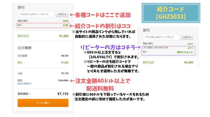 アイハーブ紹介コード割引・iHerbプロモコード