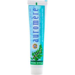 Auromere, アーユルヴェーダのハーブ練り歯磨き, フレッシュミント